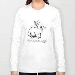 Ferocious Vegan Ladies Soft Vegetarian Animal Lover Vegan T-Shirts Long Sleeve T-shirt