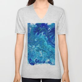 Dark Ocean Blue Unisex V-Neck
