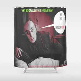 "'Count Orlock, the Vampire #3' from "" Nosferatu vs. Father Pipecock & Sister Funk (2014)"" Shower Curtain"