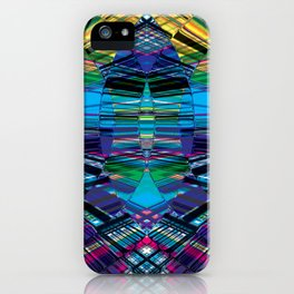 Cyber dimension iPhone Case