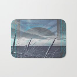 Before the Storm - blue graphic Bath Mat