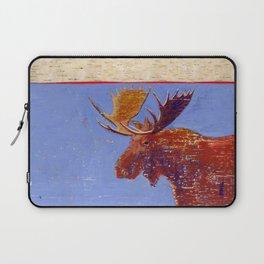 moose with birch bark Laptop Sleeve