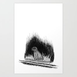 ghost dog Art Print