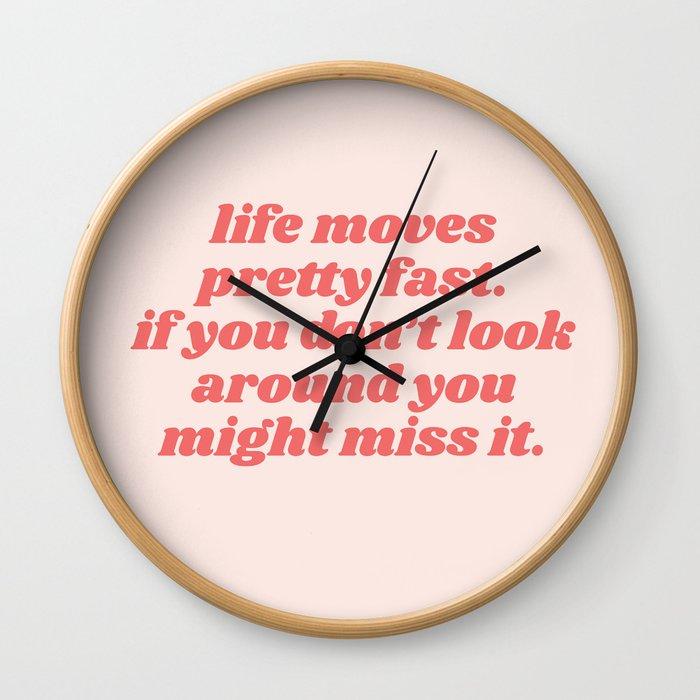 life moves Wall Clock