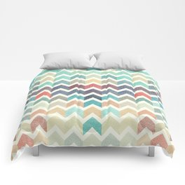 Glitter Chevron IV Comforters