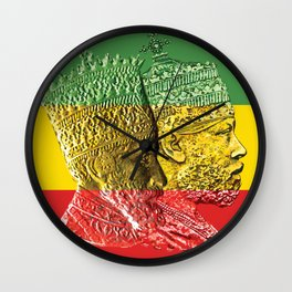 Haile Selassie King Menelik Wall Clock