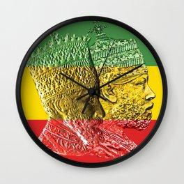 Haile Selassie King Menelik Wall Clock
