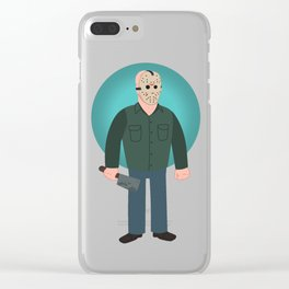 Jason Voorhees Friday the 13th Part 3 Clear iPhone Case