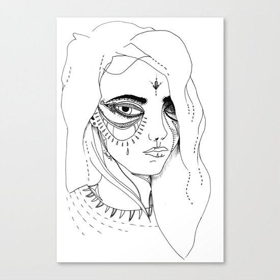 Teary Canvas Print