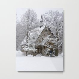 Chapel in the winter Metal Print
