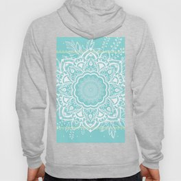 mandala bohemian embellishments floral medallion turquoise Hoody