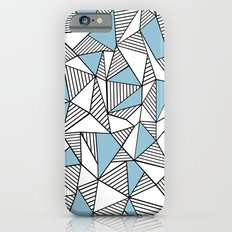 Abstraction Lines Sky Blue iPhone 6s Slim Case