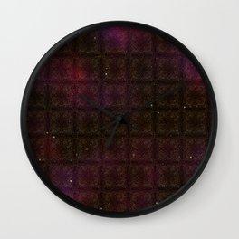 Starfield Grid Wall Clock