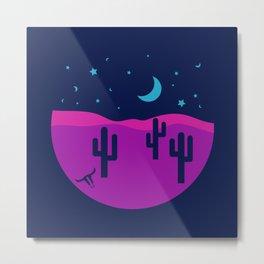 Modern Desert Cactus Scene #desert #cactus Metal Print