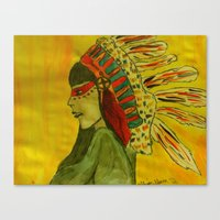 native Canvas Prints featuring Native  by Allison Elam