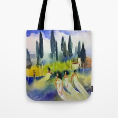 Rest on the hill Tote Bag