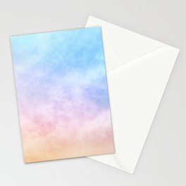 Pastel Rainbow Watercolor Clouds Stationery Cards