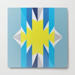 SUN_Yellow Star_Summer - Style Me Stripes Metal Print