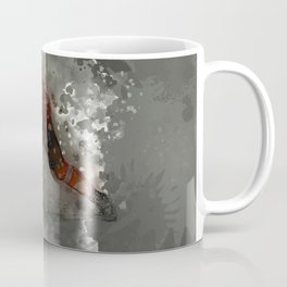 On Ice - Ice Hockey Player Modern Art Coffee Mug