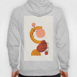 'Boomerang' Earth Tones Neural Warm Colors Fun Space Shapes Yellow Ochre Tan Brown by Ejaaz Haniff Hoody