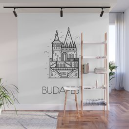Budapest Hungary Black and White Wall Mural