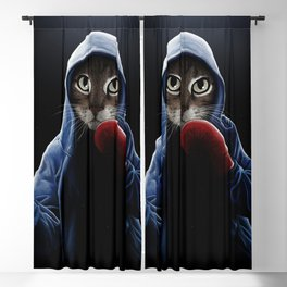 Boxing Cool Cat Blackout Curtain