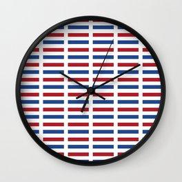 Flag of Netherlands -pays bas, holland,Dutch,Nederland,Amsterdam, rembrandt,vermeer. Wall Clock