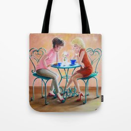 Girl Talk Tote Bag