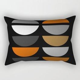 Tin Soldiers- Abstract, metallic textured, geometric, gold, silver, bronze artwork Rectangular Pillow