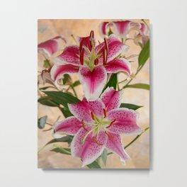 Oriental Lily Pair Metal Print