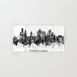 Buenos Aires Argentina Skyline BW Hand & Bath Towel