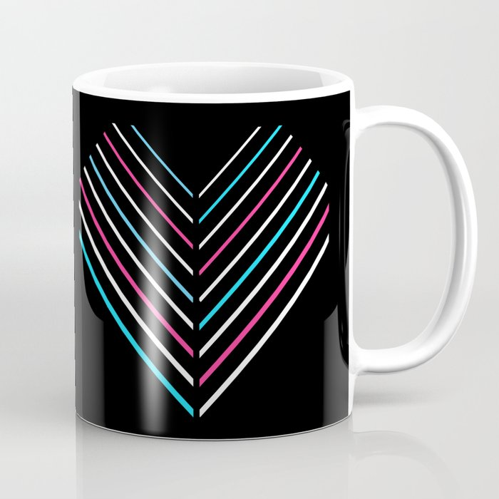 Transcend Neon Heart Coffee Mug