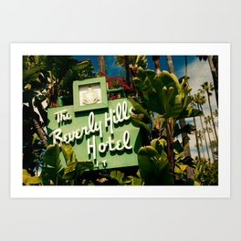 Classy Beverly Hills Hotel Mid Century Modern Neon Sign Art Print