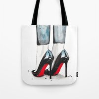 paris Tote Bags featuring Cloudy In Paris by anna hammer