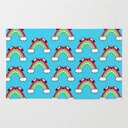 Rainbow Buddy pattern Rug