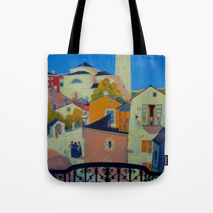 Vintage Tessin Switzerland Travel Tote Bag