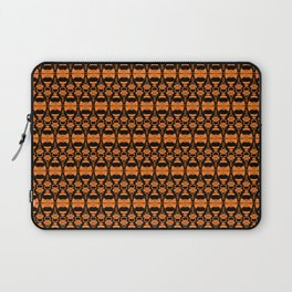 Dividers 02 in Orange Brown over Black Laptop Sleeve