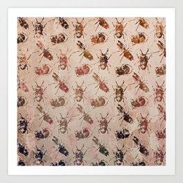 hot buggy mess persimmon brown Art Print