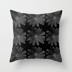 9 Flowers Throw Pillow
