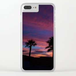 Palm Sunset - 7 Clear iPhone Case