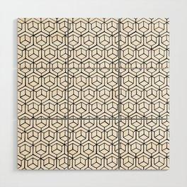 Hand Drawn Hypercube Wood Wall Art
