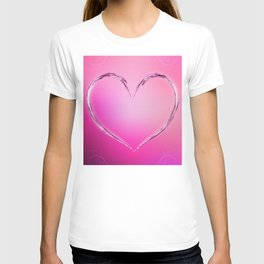 Water heart T-shirt
