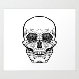 Side Effects Skull Art Print