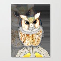 Conceptualized Owl Canvas Print