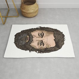 The Face Of Nick Offerman Rug