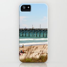 Beachgoers At Topsail iPhone Case