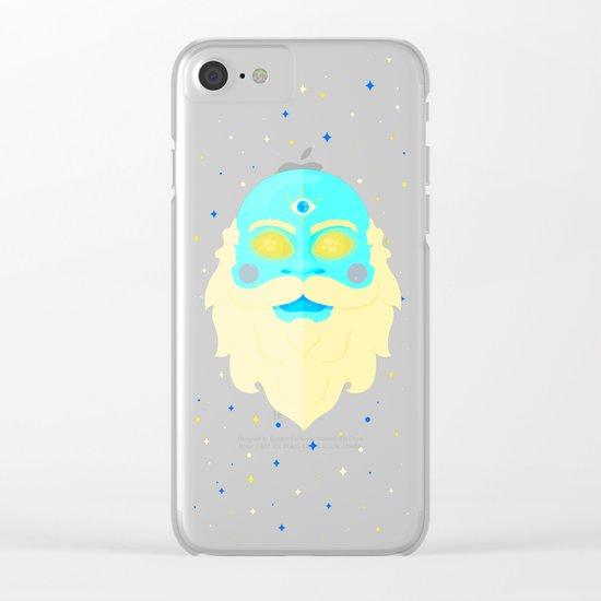 Santa Cosmos Clear iPhone Case