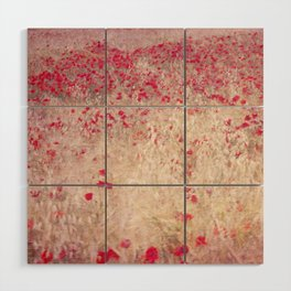 Fields of poppies Wood Wall Art