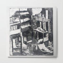 Urban Piranesi Prison Metal Print