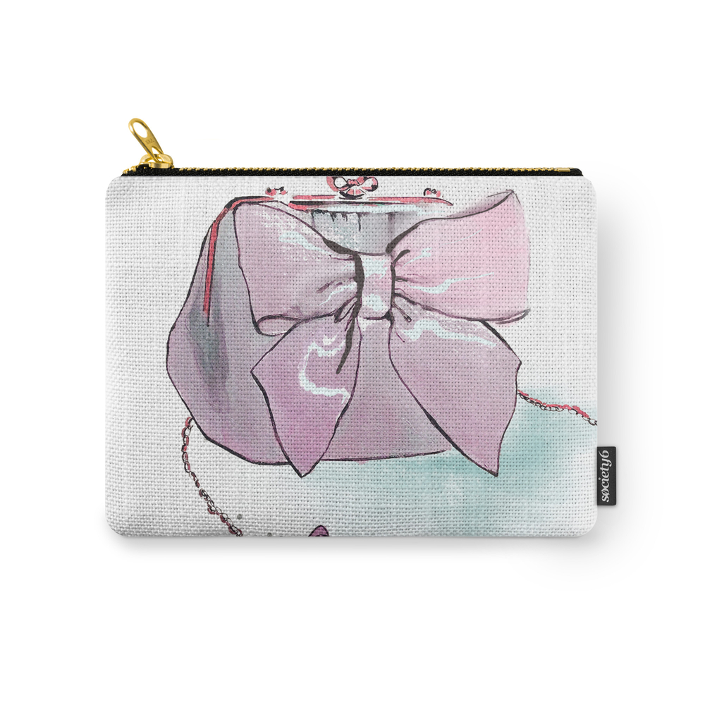 Pink Purse Carry-All Pouch by gracefulbrush (CAP8974954) photo